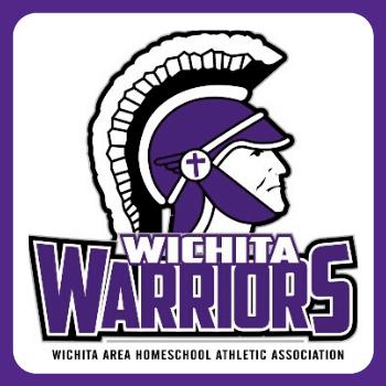Warriors Head Logo with Purple Border